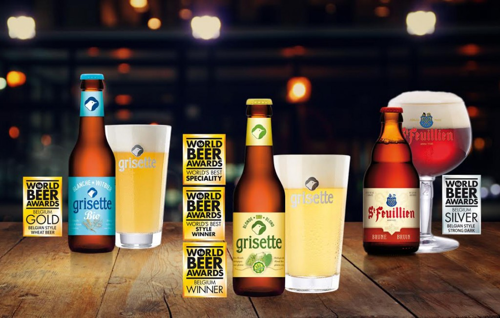 Brasserie St-Feuillien wins 5 awards at the World Beer Awards 2016 !