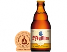 The St-Feuillien Blonde wins a Certificate of Excellence !